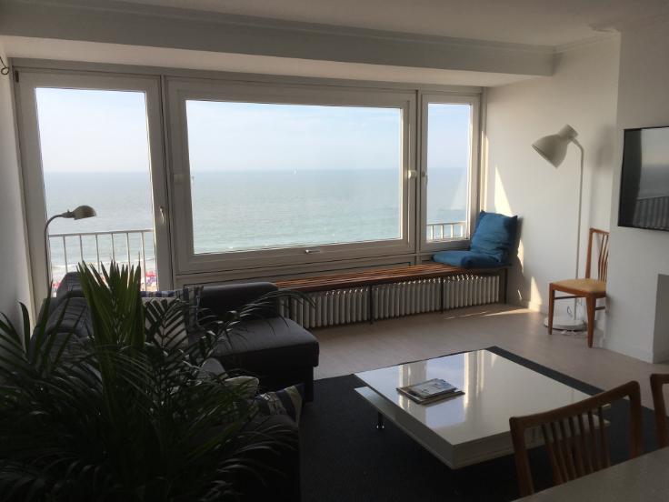 Superbe appartement vue frontale mer digue de knokke - Location appartement meuble bruxelles ...